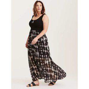 Torrid Tie Dye Maxi Dress - Knit Top Chiffon Skirt